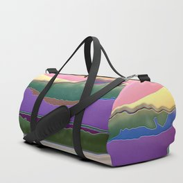 Lone Sailboat Enamel Duffle Bag