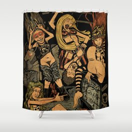 L7 rock Band Shower Curtain