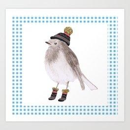 Christmas card - Robin Art Print