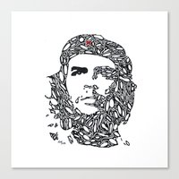 che Canvas Prints featuring Che by Rucifer