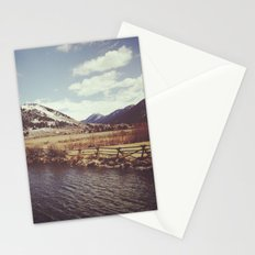 Looking Over the Creek at the Gros Ventre Mountain Range, Wyoming Stationery Cards