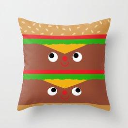 Double Cheeseburger Throw Pillow