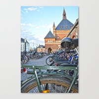 bicycles Canvas Prints featuring bicycles by  Agostino Lo Coco