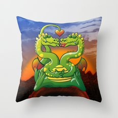 Dragons Madly in Love Throw Pillow