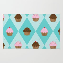 Argyle Cupcakes Rug