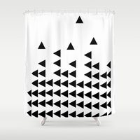 tetris Shower Curtains featuring Arrow Tetris by mzscreations
