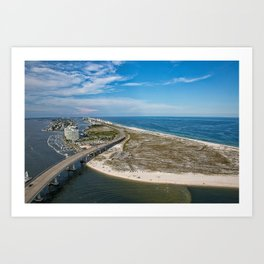 Perdido Bridge - Orange Beach, Alabama Art Print