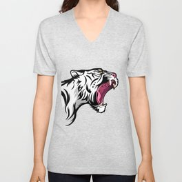 Tiger head Unisex V-Neck
