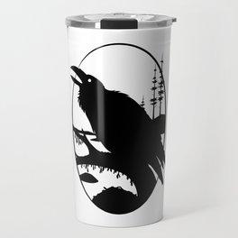 Raven Silhouette IV Travel Mug