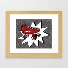 Roller Derby Slam Framed Art Print