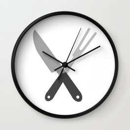 knife and fork Wall Clock