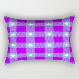 Starry Blurple Plaid Rectangular Pillow