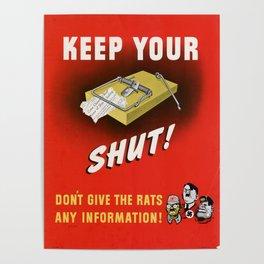 Keep it Shut Poster