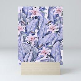 Tropical state - violet Mini Art Print