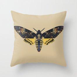 Death's-head hawkmoth Throw Pillow
