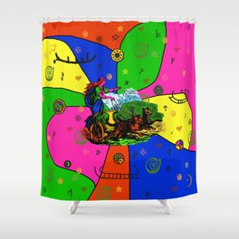 Godess Freya Popart Shower Curtain