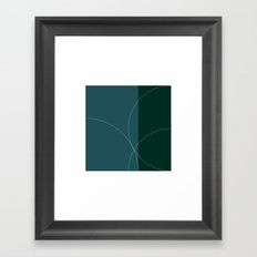 #513 Vertical sunset Framed Art Print