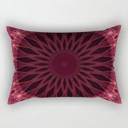 Mandala in dark red and pink tones Rectangular Pillow