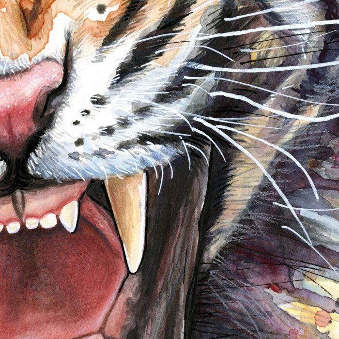 Tiger Watercolor Animal Painting Leggings