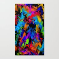 psychedelic art Canvas Prints featuring Psychedelic  by Lord Rukaj