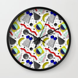 Memphis Milano X Harlem Shake Style Wall Clock