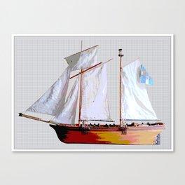 Sailing ship, abstract. Canvas Print