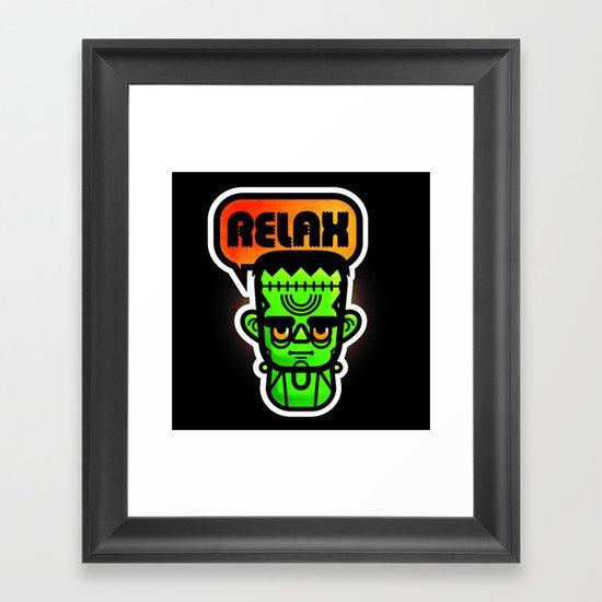 Frankie Says Relax Framed Art Print