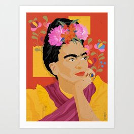 Frida - a colorful mind Art Print