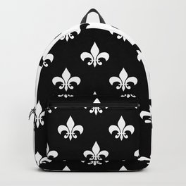 Black & white royal lilies Backpack