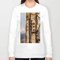 industrial Long Sleeve T-shirts featuring Industrial landscape by vientocuatro
