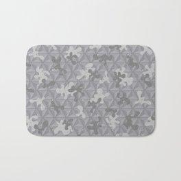 'Space Grey Camo Pattern' by: Allan C Bath Mat