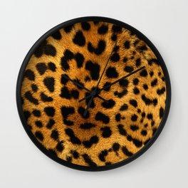 Trendy Leopard Print pattern fashion art Wall Clock