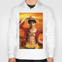 luffy Hoodies featuring Monkey D. Luffy real style by Shibuz4