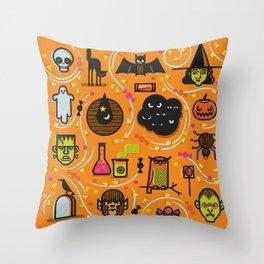 Halloween Stuff Throw Pillow