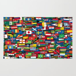 Flags of all countries of the world Rug