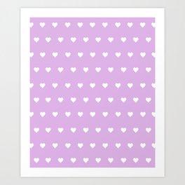 Purple Heart Pops Art Print