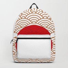 Ornamented Japanese Flag Backpack