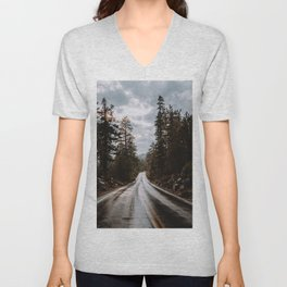 Rainy Day Adventures in the Forest Unisex V-Neck