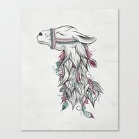 llama Canvas Prints featuring Llama by LouJah