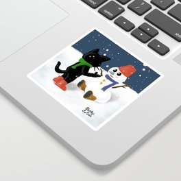 Talk to snowman Sticker