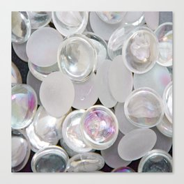 White Glass Marble Canvas Print