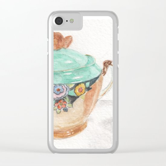 Sugar and Creamer Clear iPhone Case