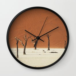 Group of Dead Trees Deadvlei Namibia Wall Clock