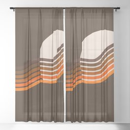 Sundown Stripes Sheer Curtain