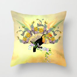 Funny toucan Throw Pillow