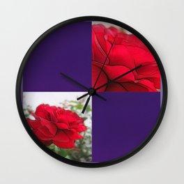 Red Rose Edges Blank Q9F0 Wall Clock