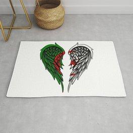 Algerian wings art Rug