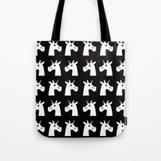 Candy Corn Unicorn Tote Bag