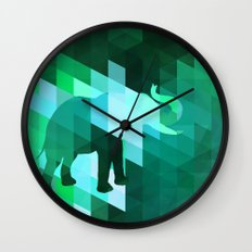 Emerald Elephant Wall Clock