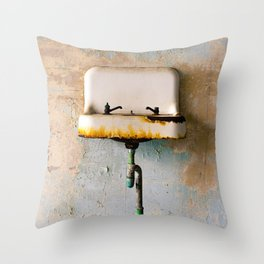 Rusted Sink Throw Pillow